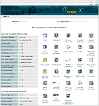 cpanel main screen screenshot
