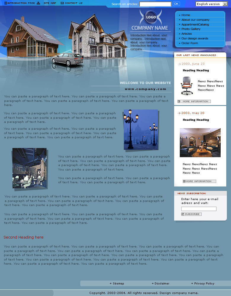 businss web design concept